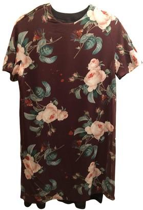 Undercover Burgundy Silk Dress for Women