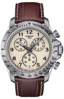 Tissot Men's V8 Chronograph Leather Strap Watch, 43Mm