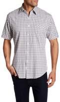 James Campbell Greer Plaid Short Sleeve Regular Fit Shirt