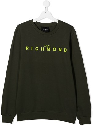 John Richmond Junior TEEN logo-print crew neck sweatshirt