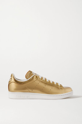 adidas Stan Smith Metallic Coated-canvas Sneakers - Gold