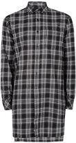 Topman AAA Black Check Super Longline Shirt