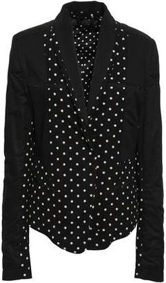 Haider Ackermann Polka-dot Cotton-jersey, Twill And Poplin Blazer
