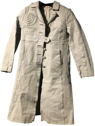 Marni Beige Leather Coat for Women