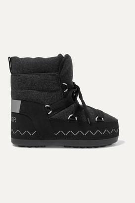 Bogner Trois Vallees Logo-print Faux Nubuck And Felt Snow Boots - Black