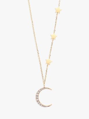 Estella Bartlett Statement Moon and Stars Pendant Necklace, Gold
