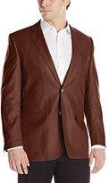 Perry Ellis Men's Waxed Linen Two-Button Sport Coat