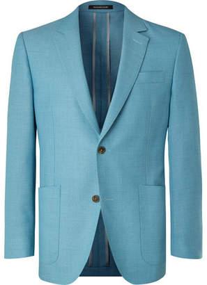 Richard James Blue Wool-Hopsack Blazer