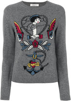 Valentino tattoo intarsia jumper - women - Cashmere/Virgin Wool - XS