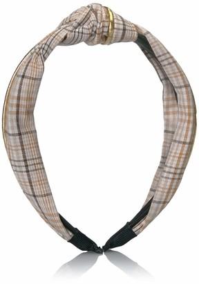 Collection XIIX Women's Plaid Top Knot Headband