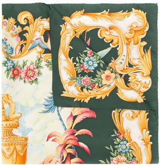 Gucci Pre Owned Floral Patterned Scarf