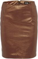 Oxford Metallic Leather Skirt