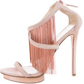 Brian Atwood Fringed Suede Sandals