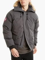Canada Goose Grey Fur-Trimmed Chilliwack Bomber Jacket