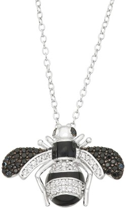 Junior Jewels Kids' Sterling Silver Cubic Zirconia Bee Pendant Necklace