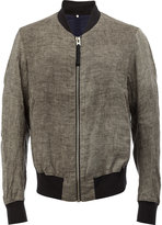 Ziggy Chen - classic bomber jacket - men - Cotton/Hemp/Linen/Flax/Cupro - 46
