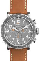 Shinola 48mm Runwell Sport Chronograph Watch, Tan/Slate/Blue