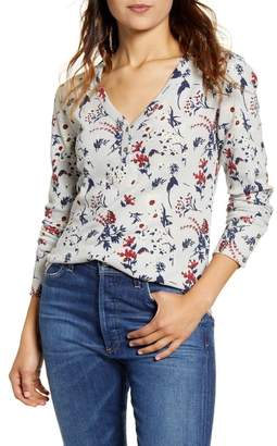 Lucky Brand Floral Thermal Shirt