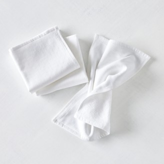 The White Company Face Cloth Set of 3, White, One Size