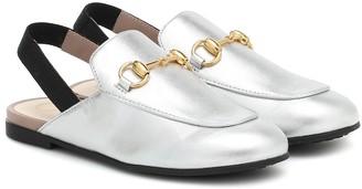 Gucci Kids Princetown glitter slippers