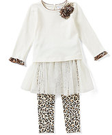 Starting Out Baby Girl 12-24M Leopard Print Top & Tutu Overlay Legging Set