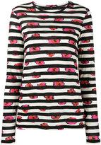 Proenza Schouler striped long sleeve top - women - Cotton - XS