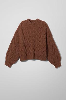 Weekday Lizzie Sweater - Beige