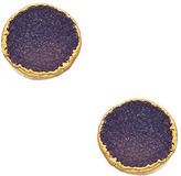 Janna Conner Designs Gold and Druzy Stud Earrings