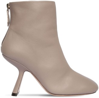 Nicholas Kirkwood 90mm Alba Leather Ankle Boots