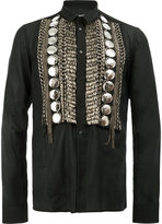 Balmain embellished shirt - men - Cotton/Brass/glass - 39