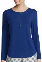 Liz Claiborne Long-Sleeve Henley Pajama Top