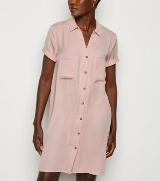 New Look Short Sleeve Shirt Dress