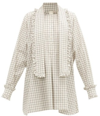 Zanini - Frilled Cotton-poplin Shirt - Womens - White
