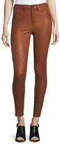 Veronica Beard Kate Skinny-Leg Leather Pants