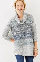 J. Jill Marled-Stripes Easy Pullover