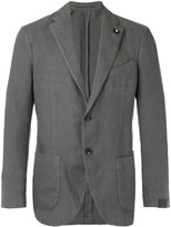 Lardini two button jacket - men - Hemp/Polyester - 48
