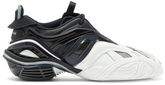 Balenciaga Tyrex Square-toe Jersey And Mesh Trainers - Black White
