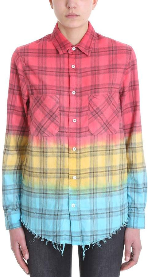 Amiri Faded Plaid Check Shirt In Cotton