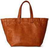 Street Level Cognac Faux Leather Large Tote