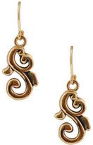 Barse Women's Bronze Scroll Earring BASIE18BZ
