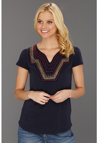 Lucky Brand Veronica Embellished Top