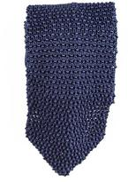 Black Bolsena Italian Knitted Silk Tie