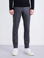 Tiger of Sweden Slim-fit window pane check wool-blend trousers