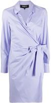 Paule Ka ruched side V-neck shirt dress