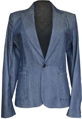 Diesel Black Gold Blue Cotton Jacket for Women