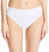 Warner's Women's No Pinches No Problem Cotton Lace Hi-Cut Panty