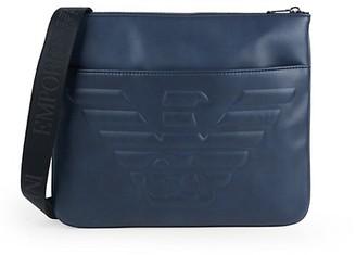 Emporio Armani Embossed Logo Messenger Bag