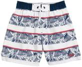 HUGO BOSS Striped Hawaiian Nylon Swim Shorts