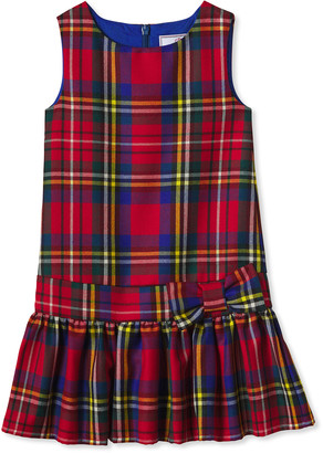 Classic Prep Childrenswear Girl's Cameron Tartan Drop-Waist Sleeveless Dress, Size 2-14