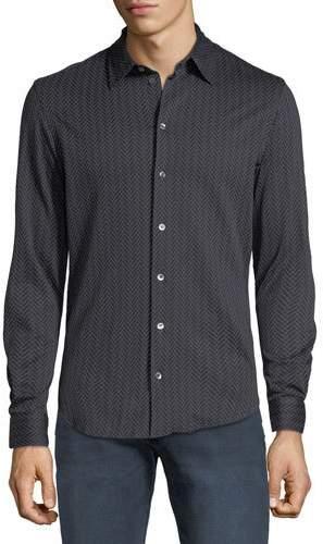 Emporio Armani Men's Chevron-Print Sport Shirt